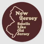 New Jersey Smells Like Old Jersey Round Sticker