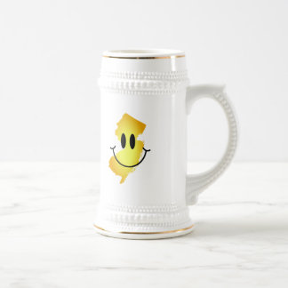 New Jersey Smiley Face 18 Oz Beer Stein