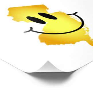 New Jersey Smiley Face Photo Print