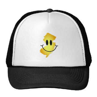 New Jersey Smiley Face Trucker Hat