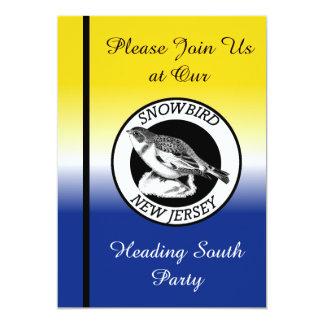 New Jersey Snowbird Shield 5x7 Paper Invitation Card