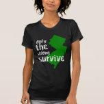 New Jersey: Solamente el fuertes sobreviven Camisetas