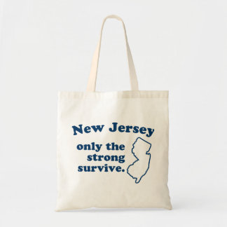 New Jersey solamente que el fuertes sobreviven Bolsa Tela Barata