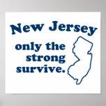New Jersey solamente que el fuertes sobreviven Posters