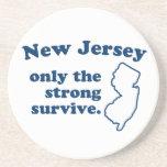 New Jersey solamente que el fuertes sobreviven Posavasos Manualidades