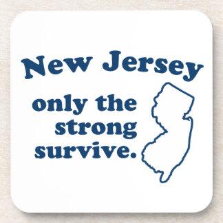 New Jersey solamente que el fuertes sobreviven Posavasos De Bebidas