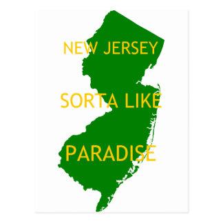 New Jersey Sorta tiene gusto de paraíso Postal