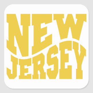 New Jersey Square Sticker