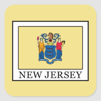 New Jersey Square Sticker