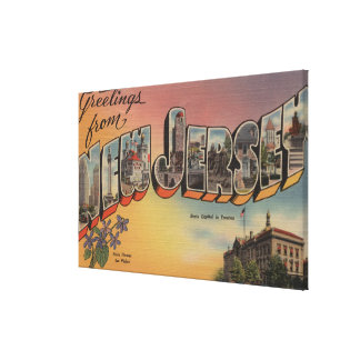 New Jersey (State Capital/Flower) Canvas Print