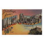 New Jersey (State Capital/Flower) Poster