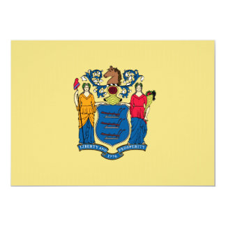 New Jersey State Flag 5x7 Paper Invitation Card