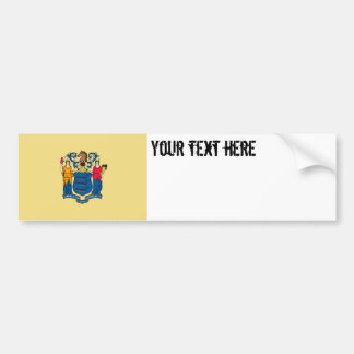 New Jersey State Flag Bumper Stickers