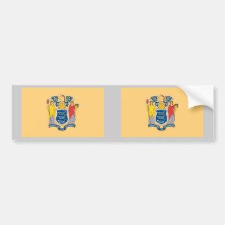 New Jersey State Flag Car Bumper Sticker