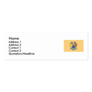 New Jersey State Flag Double-Sided Mini Business Cards (Pack Of 20)