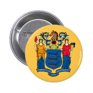 New Jersey State Flag Pinback Buttons