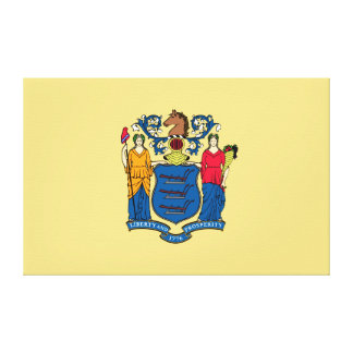 New Jersey State Flag Stretched Canvas Print