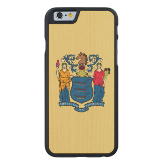 New Jersey State Flag Carved® Maple iPhone 6 Case