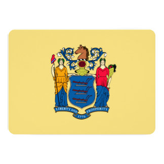 New Jersey State Flag Design 5x7 Paper Invitation Card