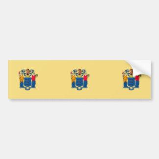 New Jersey State Flag Design Bumper Sticker