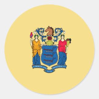 New Jersey State Flag Design Classic Round Sticker