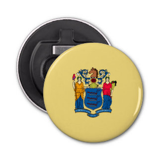 New Jersey State Flag Design Decor Bottle Opener