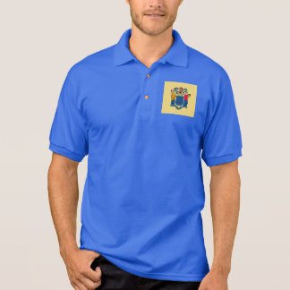 New Jersey State Flag Design Polo Shirt