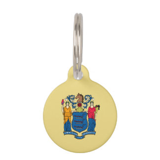 New Jersey State Flag Pet ID Tag