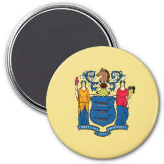 New Jersey State Flag Refrigerator Magnets