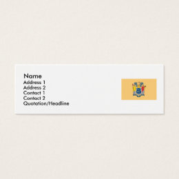 State of new jersey business cards templates zazzle new jersey state flag mini business card reheart Images