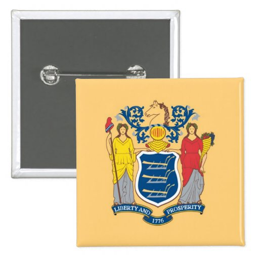 New Jersey State Flag Pinback Button
