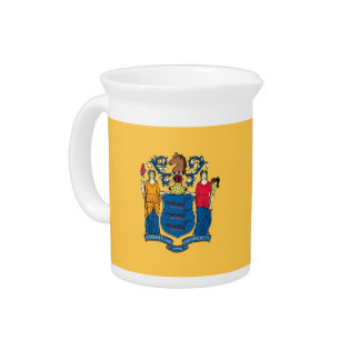 New Jersey State Flag Pitcher