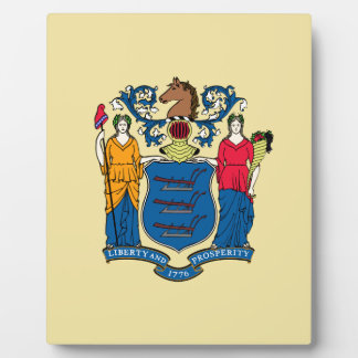 New Jersey State Flag Plaque