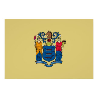 New Jersey State Flag Poster