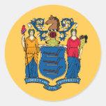 New Jersey State Flag Round Sticker