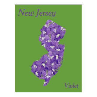 New Jersey State Flower Collage Map Postcard