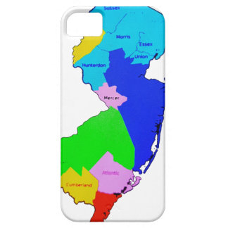 New Jersey State Map Colorful iPhone SE/5/5s Case