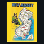 "New Jersey State Map Postcard<br><div class=""desc"">New Jersey State Map Postcard</div>"