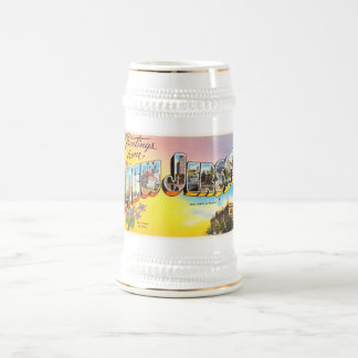 New Jersey State NJ Old Vintage Travel Postcard- Beer Stein