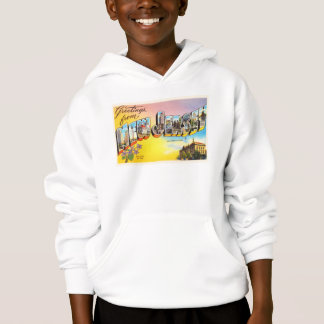 New Jersey State NJ Old Vintage Travel Postcard- Hoodie