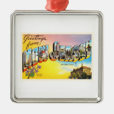 New Jersey State Nj Old Vintage Travel Postcard- Metal Ornament at Zazzle