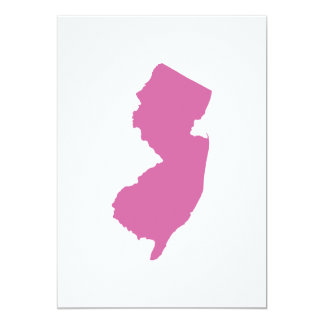 New Jersey State Outline 5x7 Paper Invitation Card