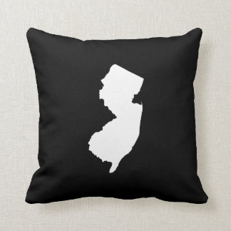New Jersey State Outline Throw Pillow