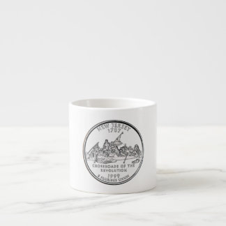 New Jersey State Quarter Espresso Cup