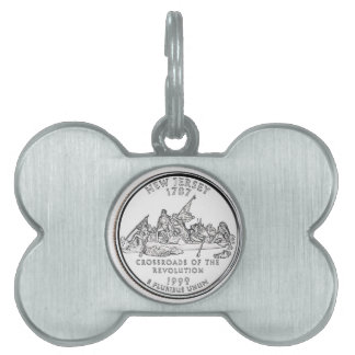 New Jersey State Quarter Pet Tag