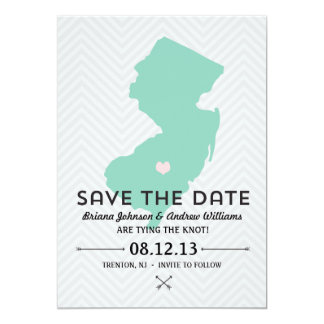 New Jersey State Save the Date 5x7 Paper Invitation Card