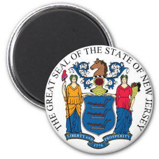 New Jersey State Seal and Motto Magnet