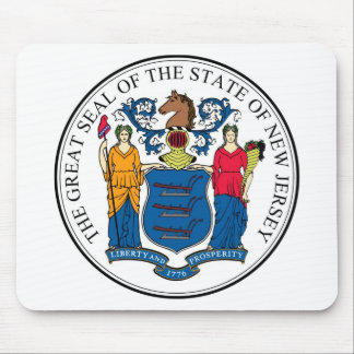 New Jersey State Seal and Motto Mouse Pad
