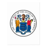 New Jersey State Seal and Motto Postcard