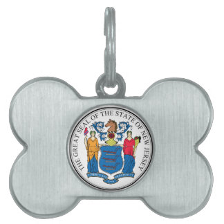 New Jersey State Seal Pet Name Tags